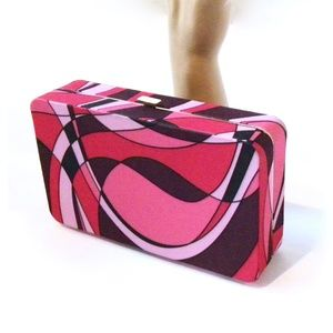 Tarte Make Up Case Clutch Pink Purple Clam Shell